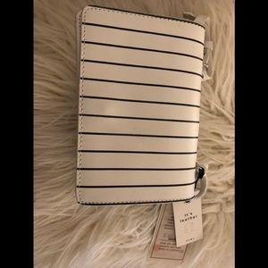 Zara leather crossbody striped
